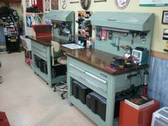 I like the area for a stool.  What I did with my $40 Home Depot Tool Cabinets - Page 3 - The Garage Journal Board