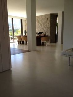 Microcemento color arena caribe, piso continuo Microcementos de Centroamérica, San Pedro Sula tel 2550-0679 Más