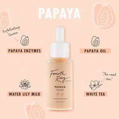 A revitalizing boost of moisture for healthier skin. Formulated with Papaya Enzymes, Papaya Oil, Water Lily Milk, and White Tea, this formula will replenish and condition the complexion. Beauty Ad, Beauty Dupes, Beauty Skin, Bussiness Card, Cosmetic Design, Beauty Packaging, Photoshop, Perfume, Social Media Design