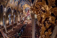 Basilica of the Sacred Heart at the University of Notre Dame   Visitation continues this morning until 10 am. All are welcome. (Photo: Matt Cashore/University of Notre Dame)