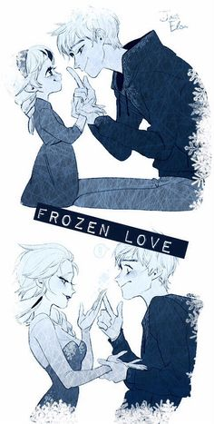 Frozen Love Jack Frost and Elsa