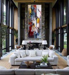 Peinture Extra Large mur moderne Art contemporain panoramique