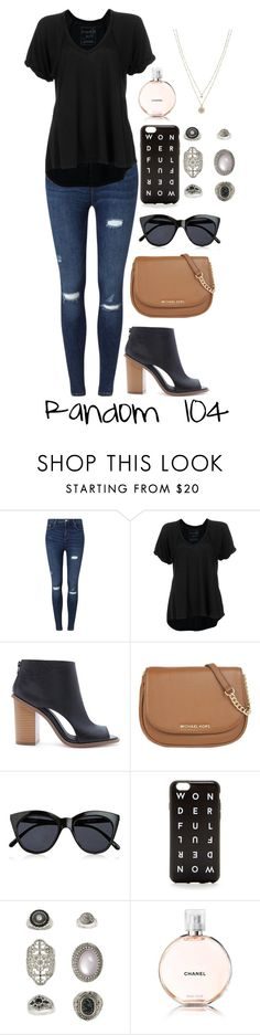 """Random 104"" by nialls-princess-megan ❤ liked on Polyvore featuring Miss Selfridge, Free People, Forever 21, MICHAEL Michael Kors, Le Specs, J.Crew, Topshop, Chanel and LC Lauren Conrad"