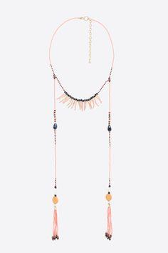 women'secret - Collier à perles et franges