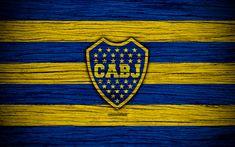 Descargar fondos de pantalla Boca Juniors, 4k, Superliga, logotipo, AAAJ, Argentina, fútbol, Boca Juniors FC, club de fútbol, de madera de la textura, el FC Boca Juniors