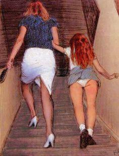 Spanking teen daughters Moms