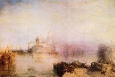 Turner, Joseph Mallord William: Dogana und Santa Maria della Salute in Venedig (Dogana, and Madonna della Salute, Venice)