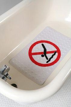no diving bath mat