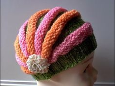 Шапочка Зефирка (knitting cap) - YouTube