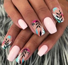 Classy Nails, Stylish Nails, Trendy Nails, Cute Nails, Summer Acrylic Nails, Best Acrylic Nails, Glow Nails, Pretty Nail Art, Dream Nails