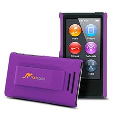nice iPod Nano 7 Case - rooCASE Ultra Slim Fit (Purple) Hard Shell Case Cover with Clip for Apple iPod Nano 7th Generation