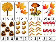 ESOS LOCOS BAJITOS DE INFANTIL: JUEGO MATEMÁTICO DE OTOÑO Fall Preschool Activities, Preschool Math, Kindergarten Math, Toddler Activities, Fall Arts And Crafts, Autumn Crafts, Tree Study, Kids Math Worksheets, Creative Curriculum