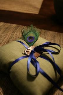 DIY Wedding Ring Bearer Pillow   DIY Peacock Ring Bearer Pillow-
