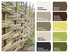 """Willow Vine Fence"" Color Palette Inspiration Chip It! by Sherwin-Williams – Home"