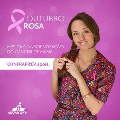 Outubro rosa . Mês da conscientização do câncer de mama.