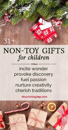Non-Toy Gift Ideas for Children An essential list of fun, delightful gifts for children that AREN'T toys!An essential list of fun, delightful gifts for children that AREN'T toys! Christmas Gifts For Kids, Homemade Christmas, Winter Christmas, All Things Christmas, Holiday Fun, Holiday Gifts, Christmas Holidays, Christmas Crafts, Christmas Ideas