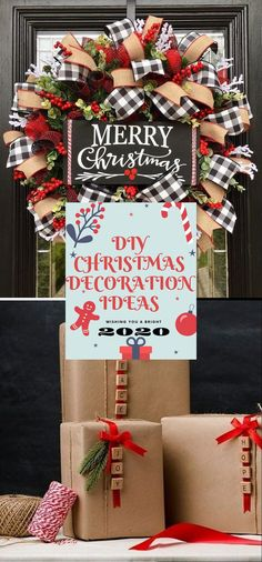 Best DIY Christmas Decoratıon 2020 #christmas Christmas Projects, Christmas Crafts, Christmas Decorations, Merry, Gift Wrapping, Gifts, Gift Wrapping Paper, Presents, Wrapping Gifts