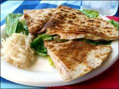 HG's Turkey Reuben Quesadilla (Serves 1) WWPP=5 (No recipe; tortilla ...