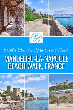 Mandelieu-la-Napoule Beach Walk on Cote d'Azur includes two ports, two castles, three beaches, and a rock tunnel. Mandelieu-la-Napoule is reachable from Cannes and Nice by public transportations. France Travel Guide | Provence Travel tips | Cote d'Azur travel tips | French Riviera Travel Tips | where to go in France | Where to visit in Provence | Mandelieu-la-Napoule #France #法国 #familytravel #provence #cotedazur # MandelieulaNapoule #beautifulplace #franceroadtrip #frenchriviera #beach Europe Travel Guide, France Travel, Travel Guides, Places In Europe, Places Around The World, Around The Worlds, Pictures Of Beautiful Places, Hidden Places, Beach Walk