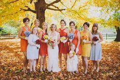 Jesienny ślub retro