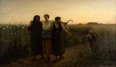 Jules Breton (French, 1827 - 1906)   Le Retour des Champs, 1867 very similar to his other painting