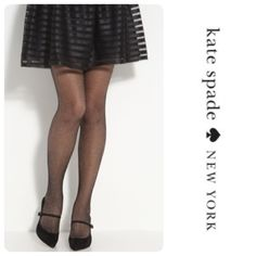 "Kate Spade New York Sparkle Fishnet Black Tights Accessorize your look with these metallic fish net tights. Pair these tights with a patterned dress and ankle boots for a fashion forward look. These tights are a small/medium and fit from 4'11"" to 5'5"". The price is firm unless bundled. kate spade Accessories Hosiery & Socks"