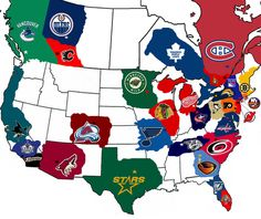 Hockey alliance by regions. I'm in that little bit of red in northern Indiana! Go Wings!!
