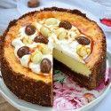 Cheesecake cu lapte condensat si ciocolata