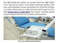 make sure that need to get in touch right dental clinic in south delhi, here expert  cosmetic dentist are providing his best service to make smile beautiful. http://www.delhi-dentist-implant.in