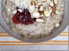Oatmeal in a rice cooker with coconut butter...delish! From Daily Garnish