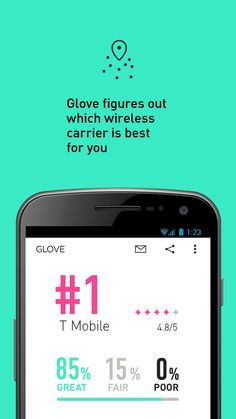 Today's app of the Day is Glove. It will helps you find the best carrier for your location. The app analyzes user activities for three days and then determines which network is best for the user. #Comboapp #Choice  #free #carrier #advicer