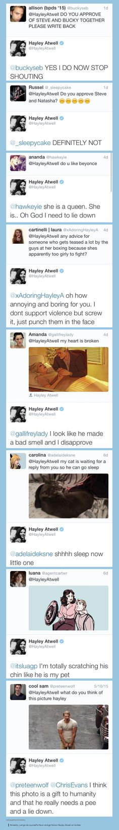 Hayley Atwell is a gift to the world