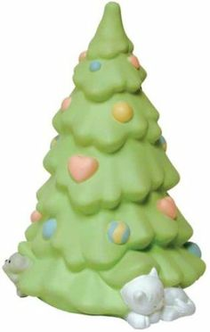 Precious Moments Christmas Tree. Hand painted with exquisite detail. Officially licensed Precious Moments statuary. So cute...
