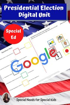 This unit on the presidential election 2020 has 175 pages, 46 google slides and a 12 day lesson plan. It was created for students with autism and special learning needs in middle and high school. It has a book, vocabulary, activities, and assessment. Activities have a digital version for google classroom. #specialneedsforspecialkids #specialeducation #specialed #election #republicans #democrats #usgovernment #presidentialelection #presidentialelection2020 #election2020 #distancelearning 6th Grade Special Education, Special Education Classroom, Presidential Election Process, Circle Map, Special Kids, Vocabulary Cards, Teaching Social Studies, Class Activities, Google Classroom