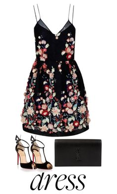 """Untitled #59"" by lightbluee ❤ liked on Polyvore featuring The 2nd Skin Co., Christian Louboutin and Yves Saint Laurent"