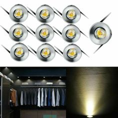 10x LED Recessed Small Cabinet Mini Spot Lamp Ceiling Downlight Lighting Warm | eBay