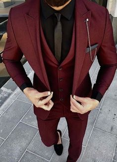 Mens Maroon Suit ready to wear. – [pin_pinter_full_name] Mens Maroon Suit ready to wear. Mens Maroon Suit ready to wear. Mens Fashion Suits, Fashion Outfits, Fashion Fashion, Prom Mens Fashion, Fashion For Men, Mens Suits Style, Trendy Mens Suits, Fashion Ideas, Groom Fashion