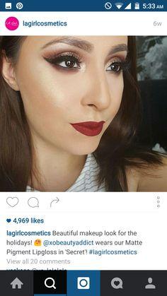 #lagirl #lip #swatch #red #vampred