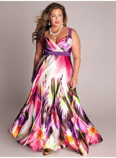 Tropical Beauty Plus Size Maxi Dress