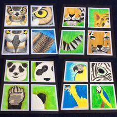 Four ways animal artwork. Classroom Art Projects, School Art Projects, Art Classroom, Classe D'art, 7th Grade Art, Montessori Art, Creation Art, Jr Art, Ecole Art
