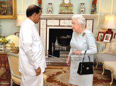 The President of Sri Lanka Mr Maithripala Sirisena meets Queen Elizabeth II…