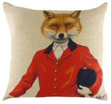 Fab Funky Fox Hunter Belgian Tapestry Cushion