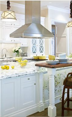 Love Carrera marble in a kitchen.
