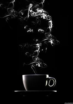 coffee - I think this would be really cool to do on black paper with white charcoal. (Cool Quotes Black And White) I Love Coffee, Coffee Art, Black Coffee, My Coffee, Coffee Steam, Coffee Scrub, Coffee Beans, Nitro Coffee, Coffee Poster
