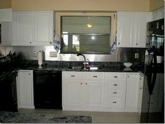 Gray Kitchen Cabinets With Black Appliances quakertown 4 bedroom house for sale | black appliances, white