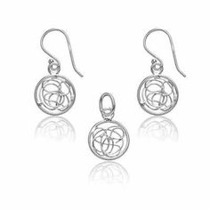 Stunning Look (925) Sterling Silver Circle Shape w/ Inner Designs Earring & Pendant Set - Incl. ClassicDiamondHouse Free Gift Box & Cleaning Cloth ClassicDiamondHouse. $29.95. Above all these, you would also get free care cloth to wipe and keep your jewelry sparkling. Comes with free jewelry box to secure your purchased item. Surprise this charm for your loved one, surely it brings unforgettable moments!. Lovely & stylish accessory adds beauty to your overall look. Highly desir...