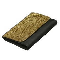 Elegant Vintage Fashion Gold Lace Wallet