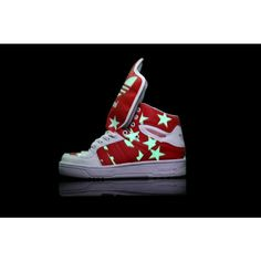 Adidas Jeremy Scott Wings Js Big Tongue Star White Glow In The Dark Shoes  Adidas Jeremy a8268d47569c