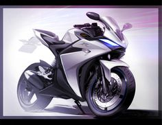 A speculated 2017 Yamaha has rendered online via Japanese media house-Young Machine, shares new and 2017 Yamaha design cues. Bike Sketch, Car Sketch, Futuristic Motorcycle, Motorcycle Art, Motorbike Design, Bicycle Design, Yamaha R25, Concept Motorcycles, Industrial Design Sketch