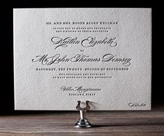 A classic and ever popular favorite, Deveril letterpress wedding invitations are simple, traditional elegance.